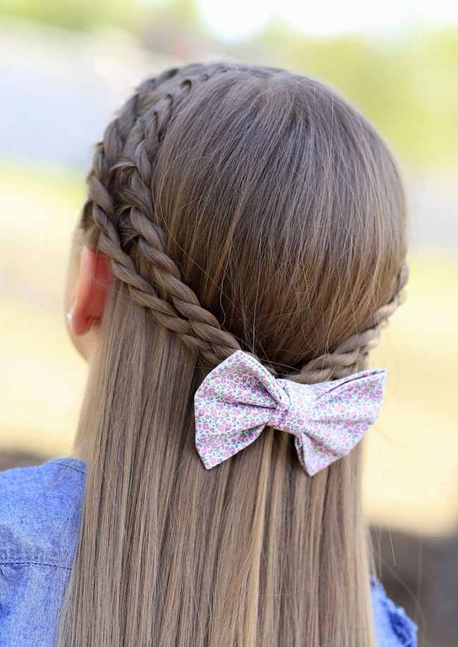 Floral Braided little girl haircuts