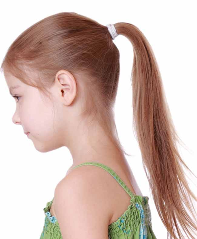 Sleek High Ponytail little girl haircuts